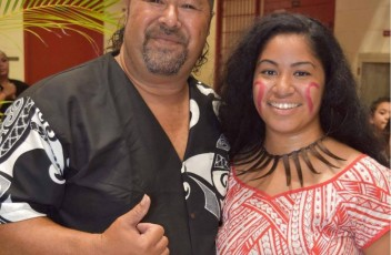 Nati and her father, Isitolo Oloa-- the co-founder of Kalena's Polynesian Ohana and Mauga Mu Fire Knife Dance Club.