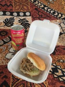 Kalua Pork w/ Cabbage Sandwich