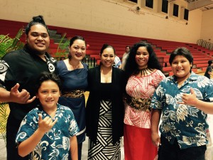 Friends and family of Mauga Mu
