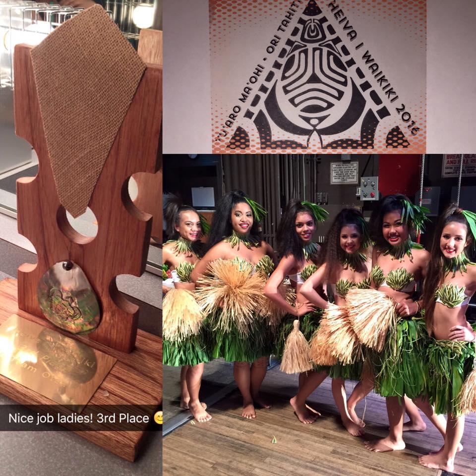 Kalena's Wins Third Place in Heiva i Waikiki