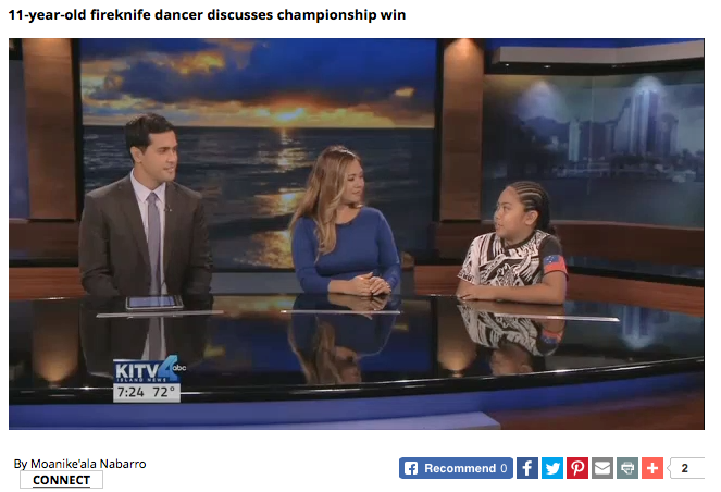 Matagi Lilo – 1st Place Junior Champion is Interviewed on KITV4!