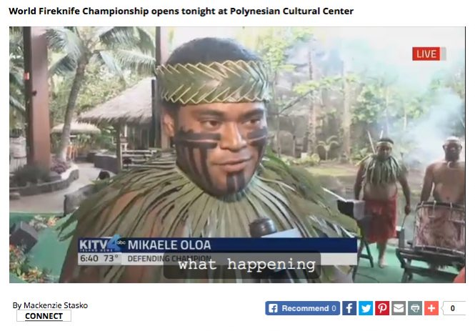 Mikaele Oloa Appears on KITV4 to Promote Competition